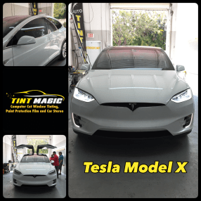 Tesla Model X at Tint Magic Window Tinting Coral Springs