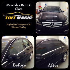 Mercedes Benz C Class at Tint Magic Window Tint Images