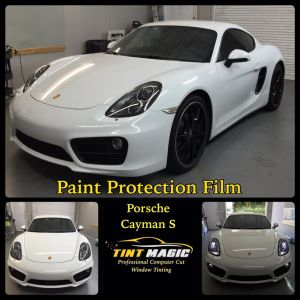Porsche Cayman S PPF at Tint Magic Window Tint