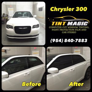 Chrysler 300 at Tint Magic Window tinting Coral springs