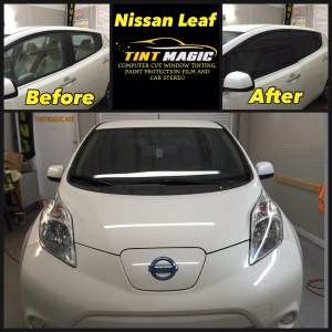 Nissan Leaf at Tint Magic Window Tinting Coral Springs