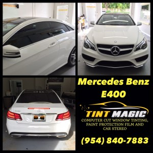 Mercedes Benz E400 at Tint Magic Window Tinting Coral Springs