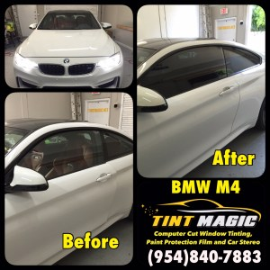 BMW M4 at Tint Magic Window Tinting Coral Springs