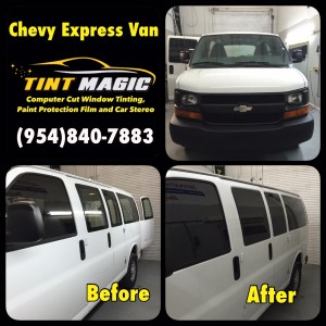 Chevy Express Van at Tint Magic Window Tinting