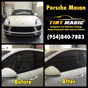 Porsche Macan at Tint Magic Window Tinting Coral Springs