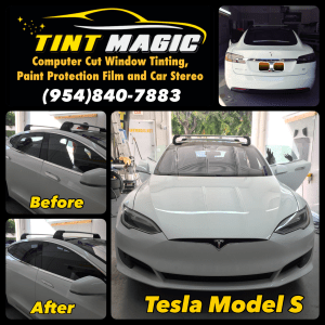 Tesla Model S at Tint Magic Window Tinting