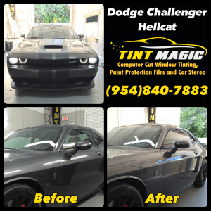 Dodge Challenger Hellcat at Tint Magic Window Tint