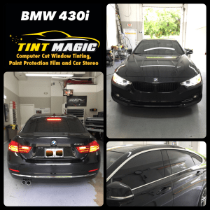BMW 430i at Tint Magic Window Tint Coral Springs