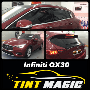 Infiniti QX30 at Tint Magic Window Tinting Coral Springs
