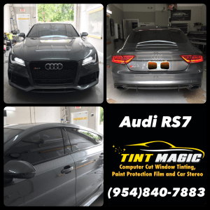 Audi RS7 at Tint Magic Window Tint Coral Springs