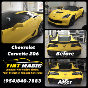 Chevrolet Corvette Z06 at Tint Magic Window Tinting Coral Springs