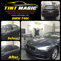 BMW 740i window tint at Tint Magic Window Tinting Coral Springs