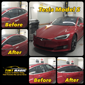 Tesla Model S Window Tinting at Tint Magic Window Tinting Coral springs, Parkland, Tamarac, Coconut Creek, Boca Raton, Sunrise, Margate