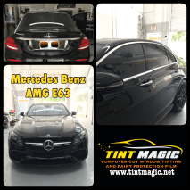 Mercedes Benz AMG E63 Window Tint at Tint Magic Window Tinting Coral Springs