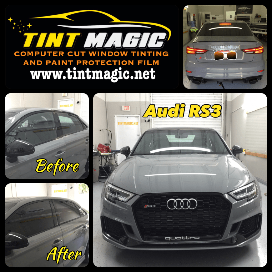 Audi RS 3 Window Tint at Tint Magic Window Tinting Coral Springs