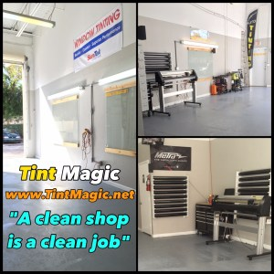 Tint Magic Window Tinting Coral Springs, work area