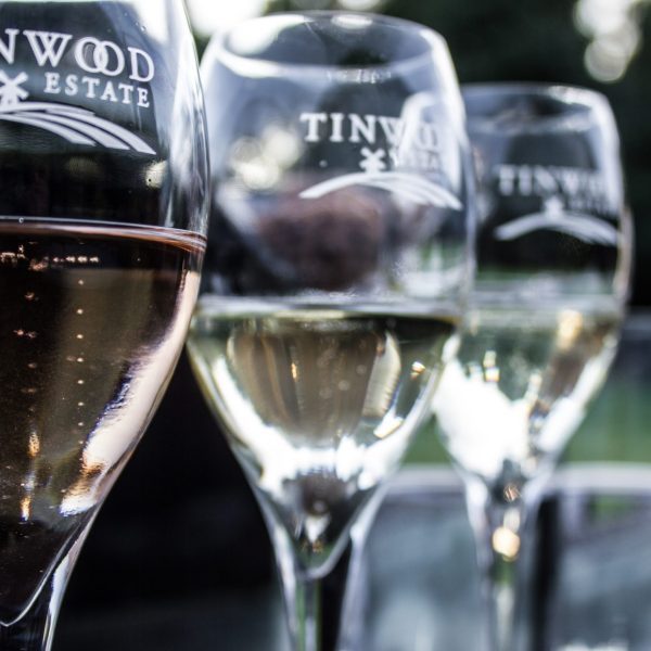 Tinwood glasses and sparkling wine