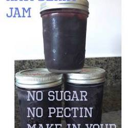 Easy Black Raspberry Jam–No Sugar, No Pectin