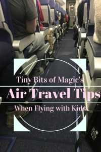 air travel tips when flying with kids