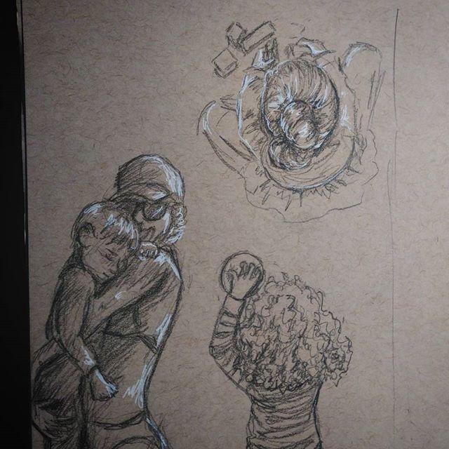 Today's #instagramkids #sketch. Inspired by  @mamarazzi2wp , @boatsboardsandbabies , and @girls_unschooled .#pencilsketch  on #strathmore #tonedpaper #kidlitart #kids #child #sketchbook #art #drawing #pencil