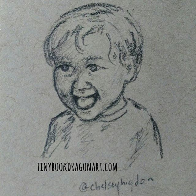 Busy day, playing Stardew Valley on my day off, shipping art and other stuff out, hanging with the family. Just finally sat down and did several sketches. First off inspired by  @chelseyhigdon .#art #sketchbook #dailysketch #dailydrawing #sketch #child #expressions #joy #illustration #pencil #pencilsketch #kidlitart