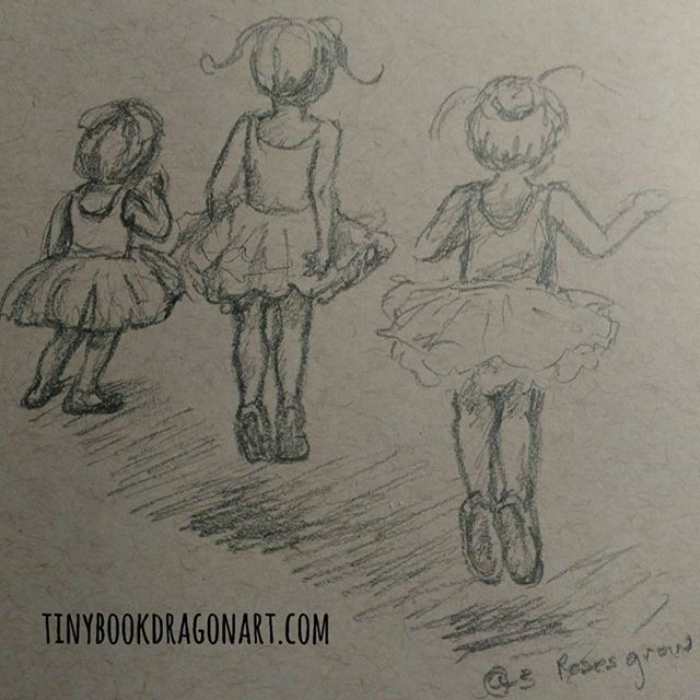 Today's #instakids #dailysketch inspired by @3rosesgrow .#sketchbook #dailydrawing #ballet #littledancers #littleballerina #jump #drawing #art #sketch #pencil #pencilsketch #dance #kidlitart #illustration #illustrationart