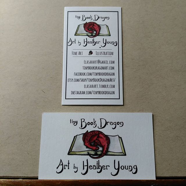 My pretty new business cards. #artistofig #instart #artist #illustrator #childrensillustration #kidlitartist #Dragon