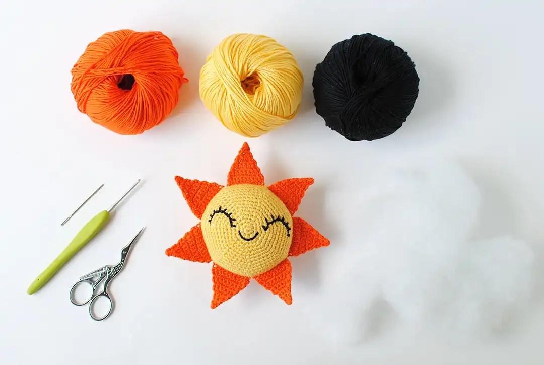 Amigurumi Doll Free Pattern : Summer sun doll free amigurumi crochet pattern u tiny curl crochet