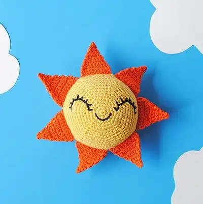Crochet Sun in the Sky