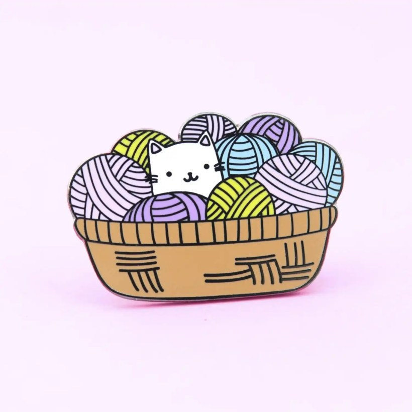 Cat Yarn Pin by The Clever Clove