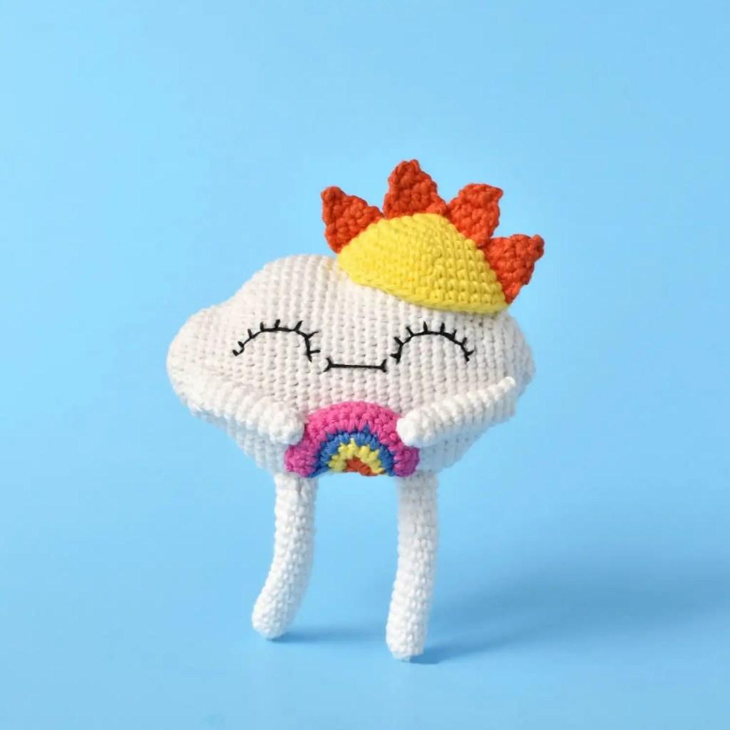 Cloud Cutie Amigurumi Crochet Pattern by Tiny Curl