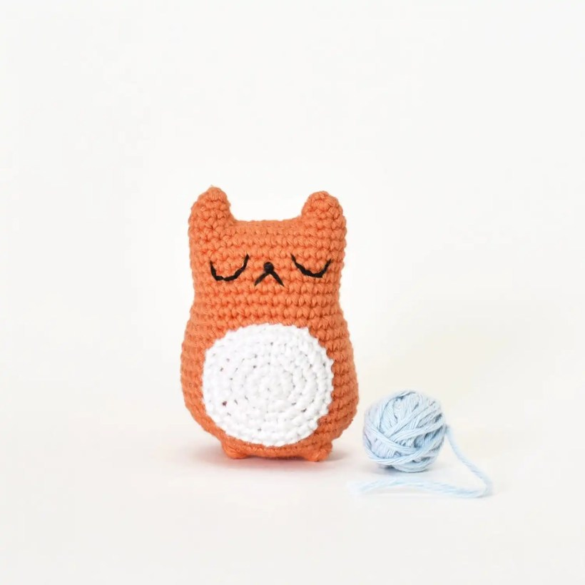 Stuffed stress ball, crochet cat, blue cat toy, Amigurumi cat ... | 820x820