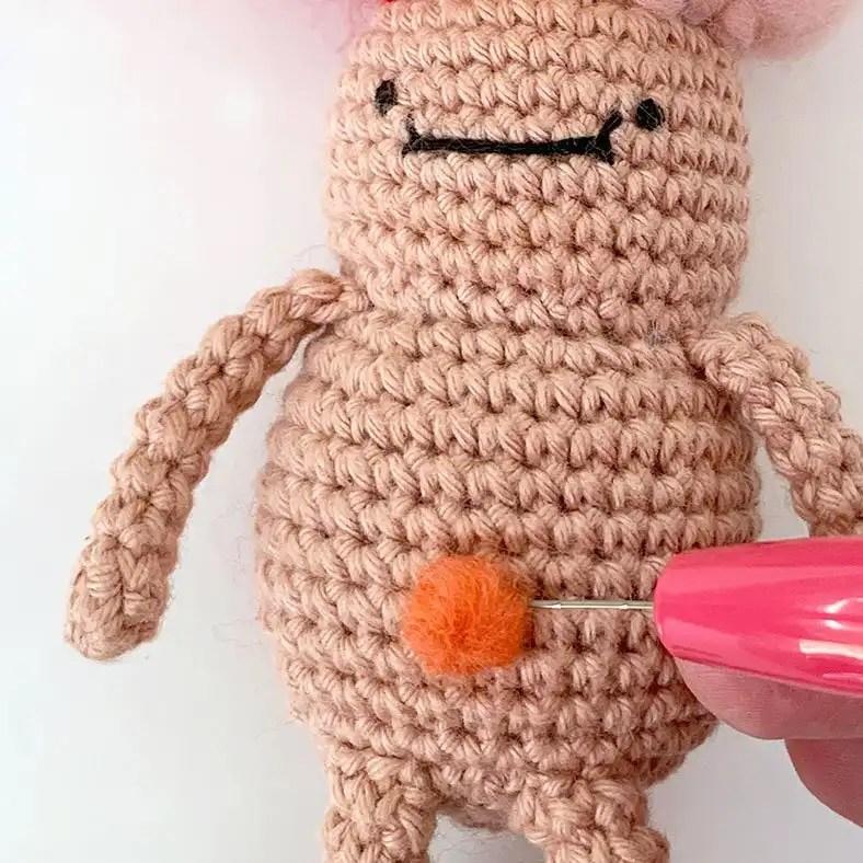 Belly Gem Troll Doll Crochet Pattern