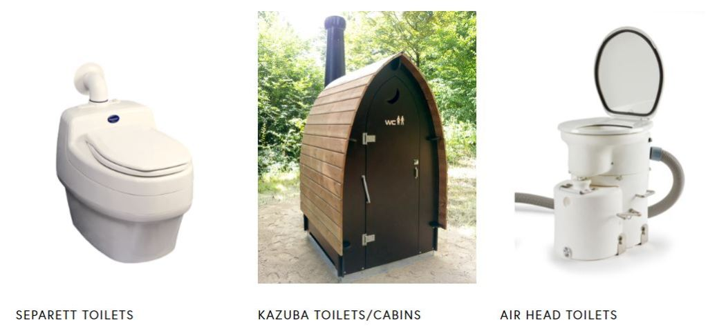 Range of eco-friendly, waterless toilets available from waterlesstoilets.co.uk