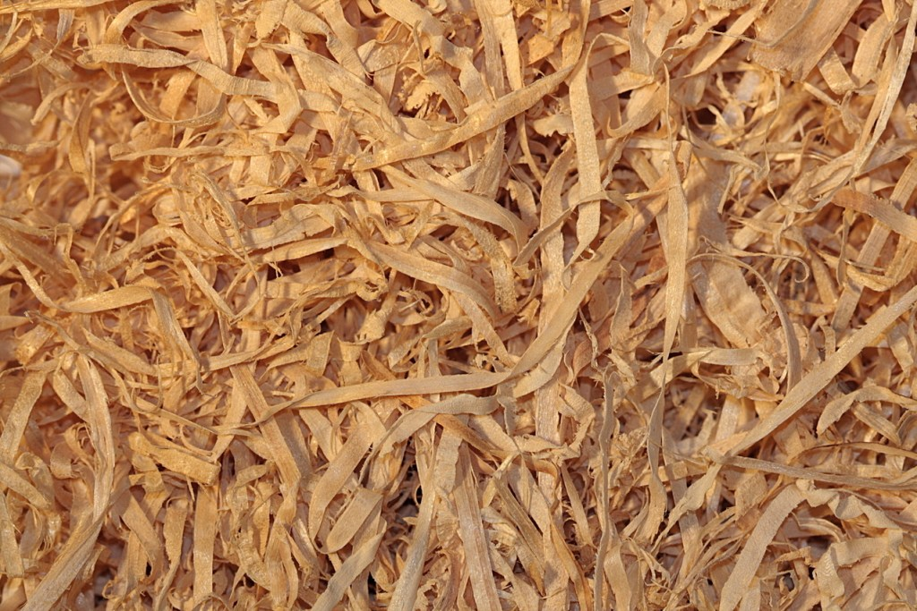 wood wool insulation shavings from timber