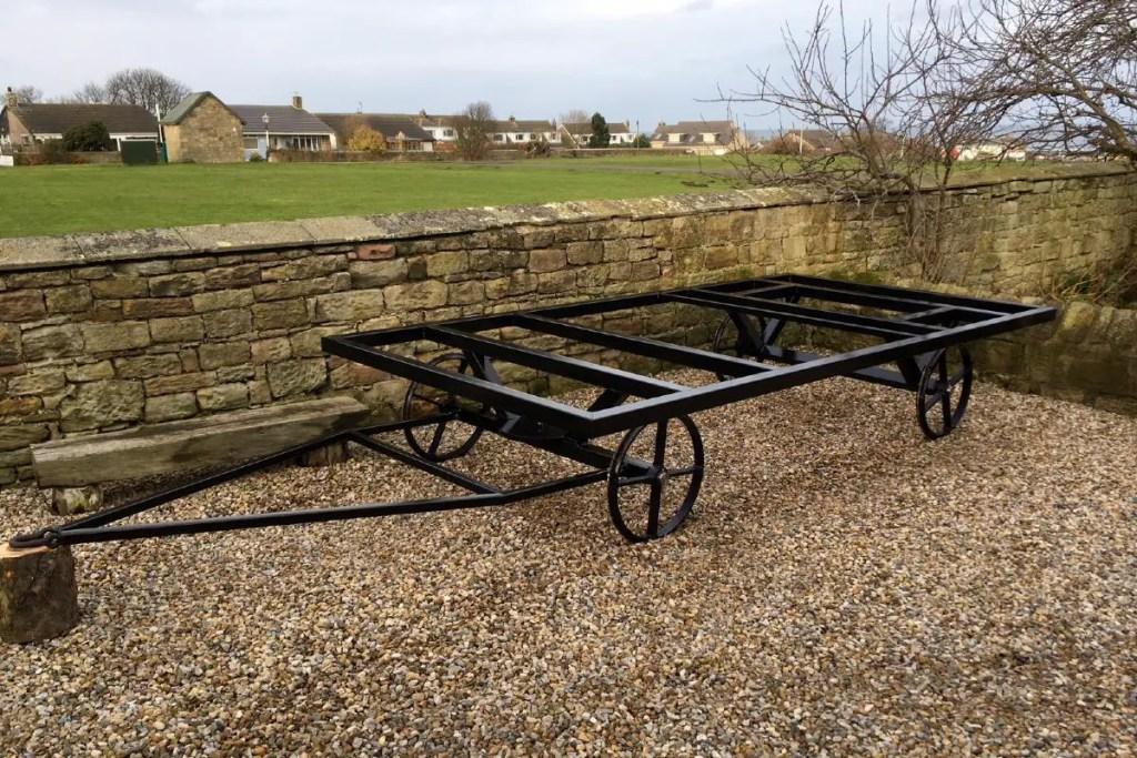 black steel shepherds hut chassis northumbrian huts