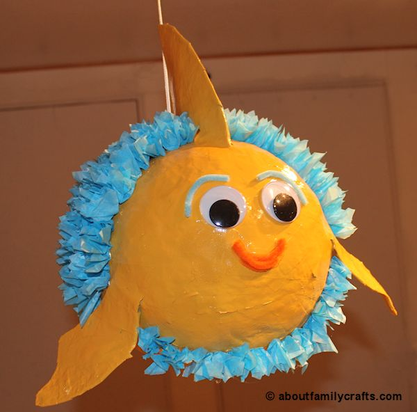 How to make a paper mache fish 6 ideas tiny fry for How to make fish