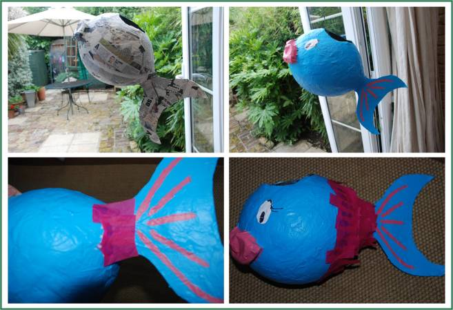How to make a paper mache fish