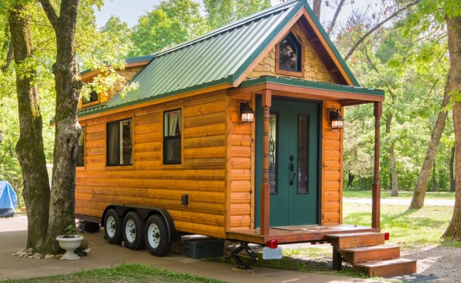 Tiny House For Sale Tiny House Log Cabin Move In Ready