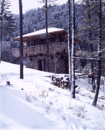 Judith Mountain Cabin - in snow