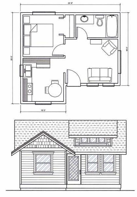 Yonderosa tiny cabin in eastern washington for Small house design and floor plans