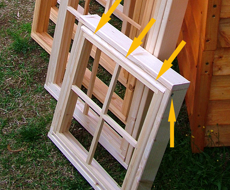 How to build handmade tiny house windows for Build your own window