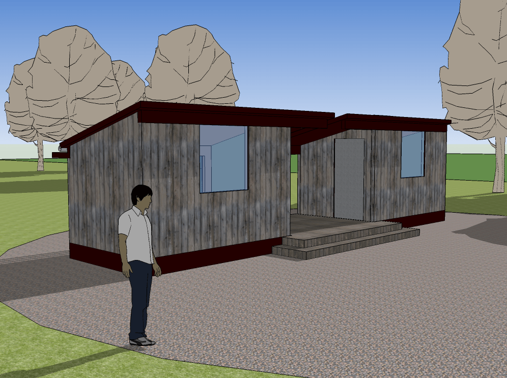 tiny dogtrot house