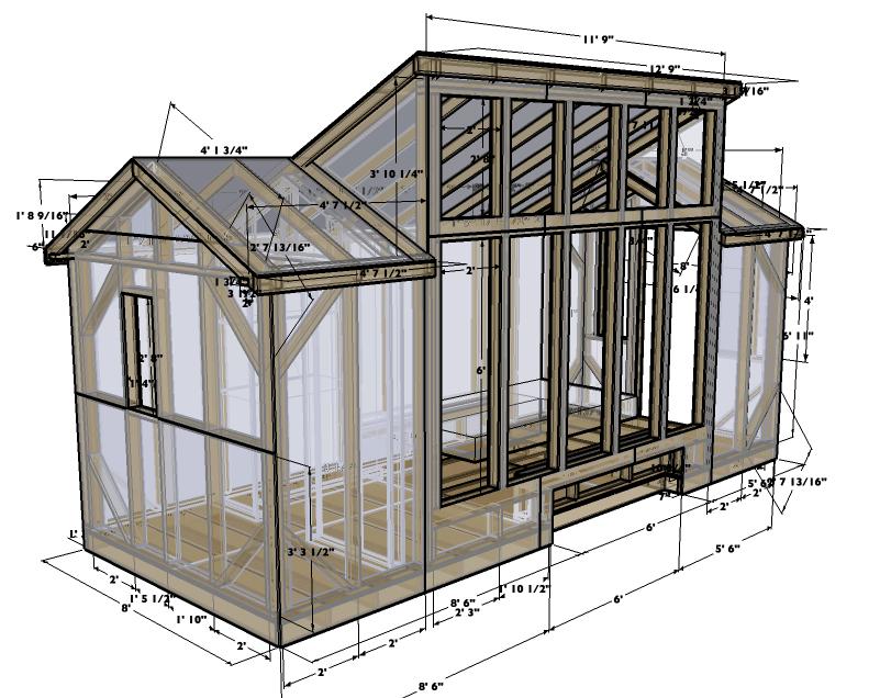 8x20 Solar Tiny House Plans Version 1 0 Tiny House Design