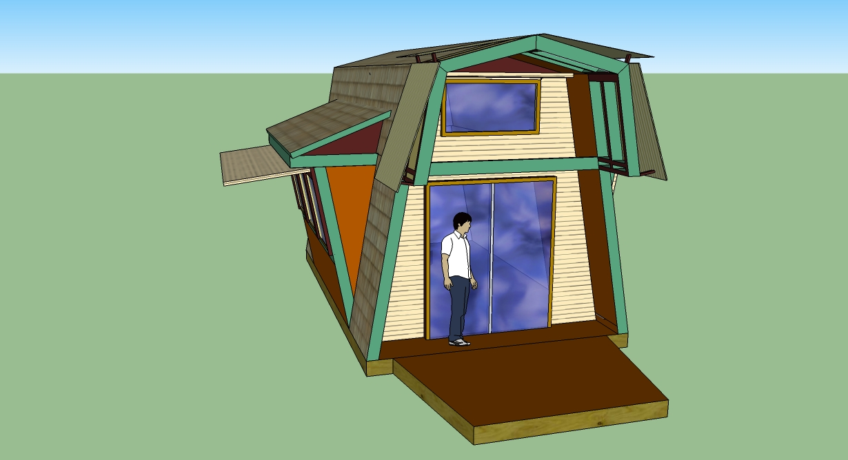 How to draw a gambrel roof in sketchup - By Using A Barn Like Gambrel Roof Craig S A Frame Provides More Usable Space Inside While Keeping Many Of The Benefits Of A Typical A Frame Intact