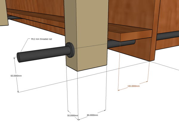 rammed earth wall former detail dimensions