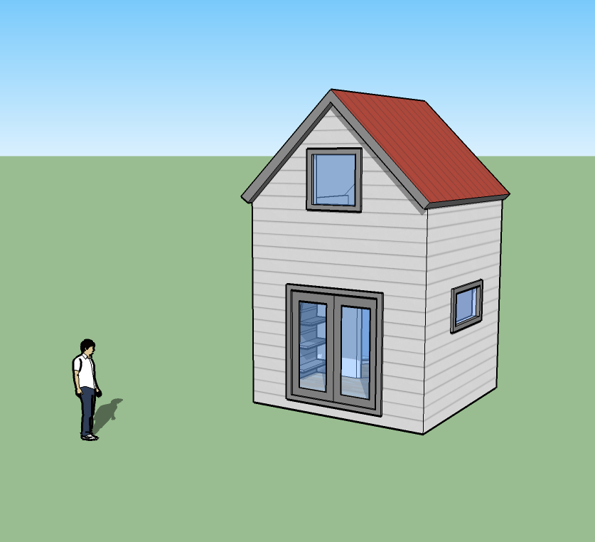 Tiny simple house is off the back burner for Minimalist house sketchup