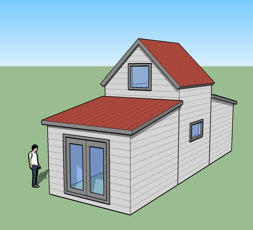 Tiny simple house is off the back burner Simple small house