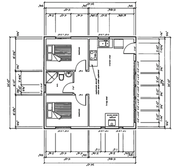 Small house on gabriola island british columbia 24x24 house plans