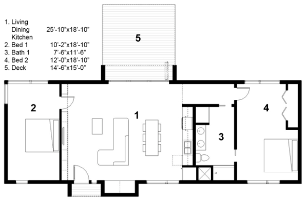 free green modern cabin floor plan